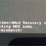 How To Fix md5 Checksum Mismatch Error In ClockworkMod Recovery