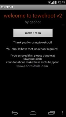 Towelroot Success Galaxy Mega GT I9150