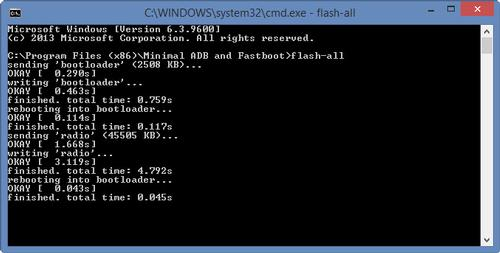 Flash Android L Command Prompt