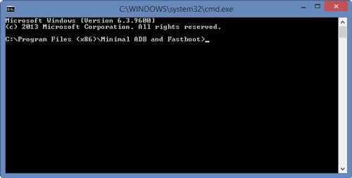 Minimal ADB and Fastboot tool Command Prompt