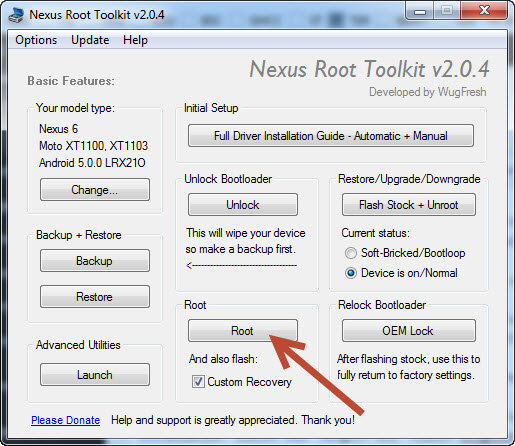 Root Nexus 6 And Flash Custom Recovery