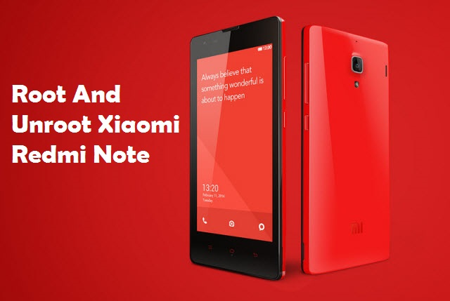 Root Xiaomi Redmi Note 3G 4G