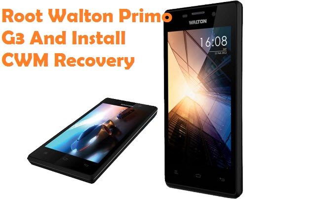Root Walton Primo G3 And Install CWM Recovery