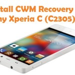 How To Install CWM Recovery In Sony Xperia C Smartphone