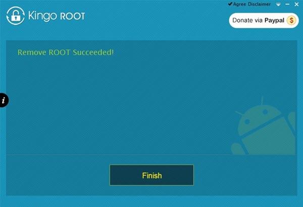 KingoRoot Root Succeeded Window