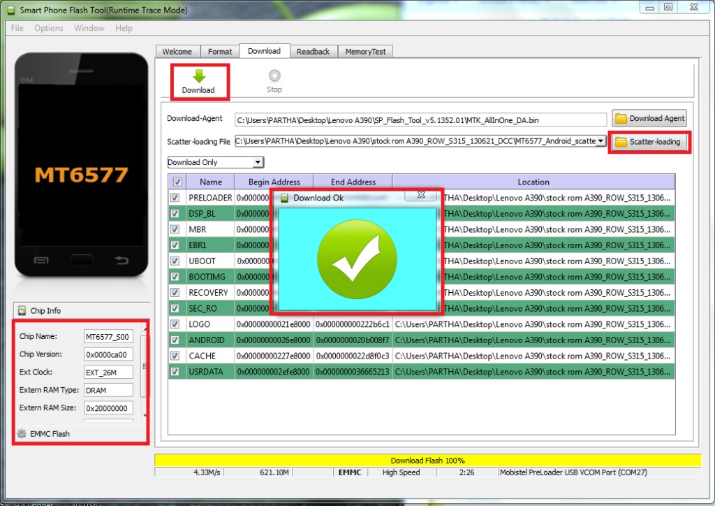 root infinix hot note pro using sp flash tool