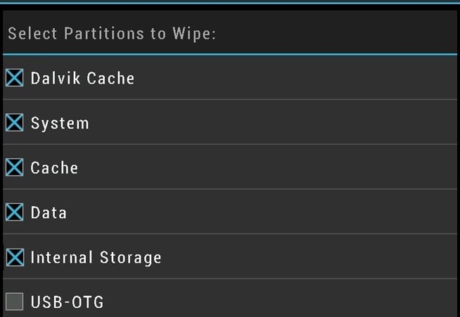 How to wipe dalvik cache partition